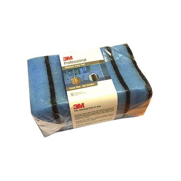 3M Professional Medium Duty Pad Power Blue - 13cm X 7.5cm (5 pads / bundle) - Spons Tidak Menggores u/ Men-Cuci dg Harga Murah  - Kombinasi ganda antar Power Pad 2000 dan sponge biru - Berdensiti tinggi untuk penyerapan air dan deterjen yang maksimum. - Memiliki kekuatan gosok yang tinggi - Bersifat Less Scratch/Anti gores   Price per Bundle (5 Pads)  http://tigaem.com/produk-pembersih/1534-scotch-brite-96-aqua-green-pad-10cm-x-15cm-10-pads-box.html  #scotchbrite #sponge #3M