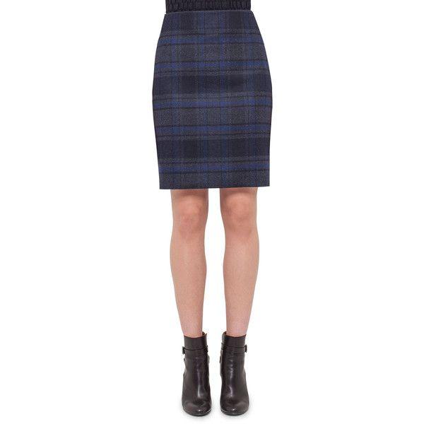 Plaid Wool Pencil Skirt February 2017