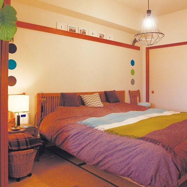 和室/ベッドカバー…などのインテリア実例 - 2013-01-07 17:27:37 ... の和室/ベッドカバー/ウォールステッカー/Bedroomについてのインテリア実例を紹介