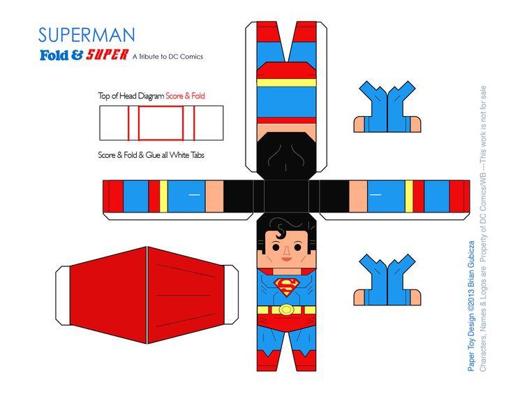 Superman Papercraft Template by Goobeetsa