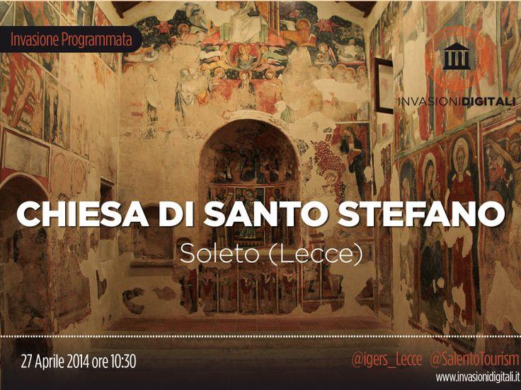 #InvasioniDigitali: Domenica 27 Aprile ore 10:30 saremo a #Soleto (Le) per scoprire la Chiesa di Santo Stefano. INFO: http://www.invasionidigitali.it/it/invasionedigitale/centro-storico-di-soleto-chiesa-di-santo-stefano-e-palazzo-le-castelle#.U1I9EuZ_sQ4 #igerslecce #invasioniSoleto #Lecce2019