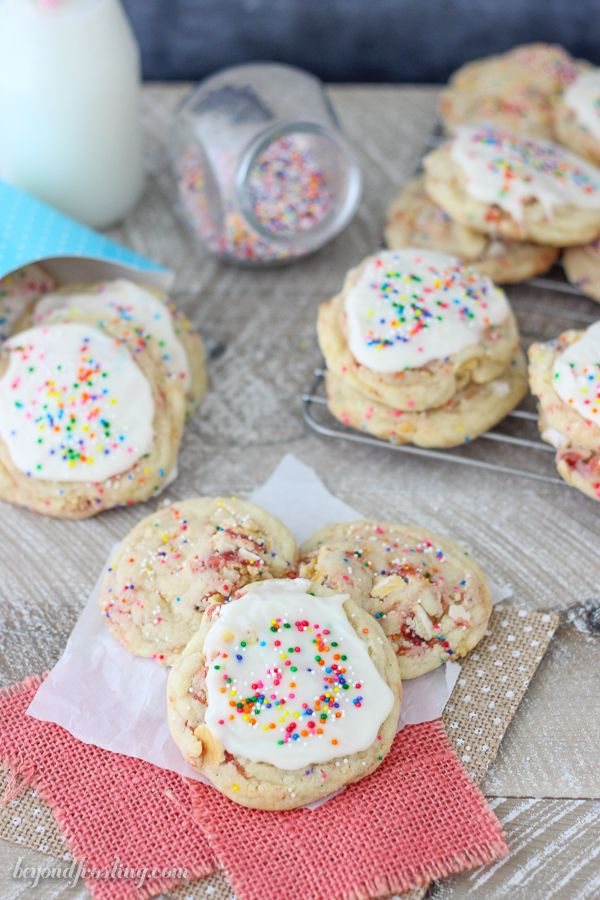 Frosted Strawberry Pop Tart Cookies - Beyond Frosting