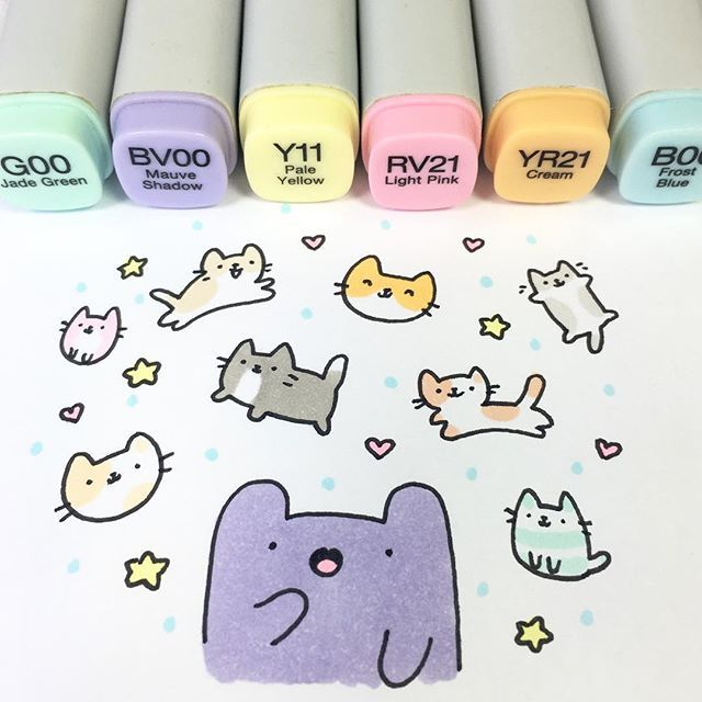 Okay guys, submissions for my #kirakira100k Giveaway are now closed! Thanks for all the super cute entries! I loved them all so much ❤️❤️ Honestly, it is sooo hard to choose because all of you guys put so much effort into it! I'll announce the winner in just a bit! ✨ #kawaii #doodle #cats #copicmarkers