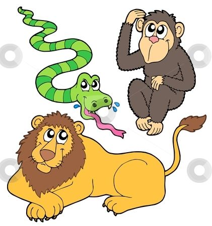 Zoo Animals Together Clipart Pinterest • T...