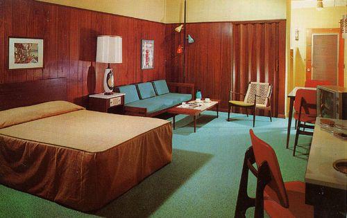 Vintage Postcards of Inspiring Motel Room Interiors