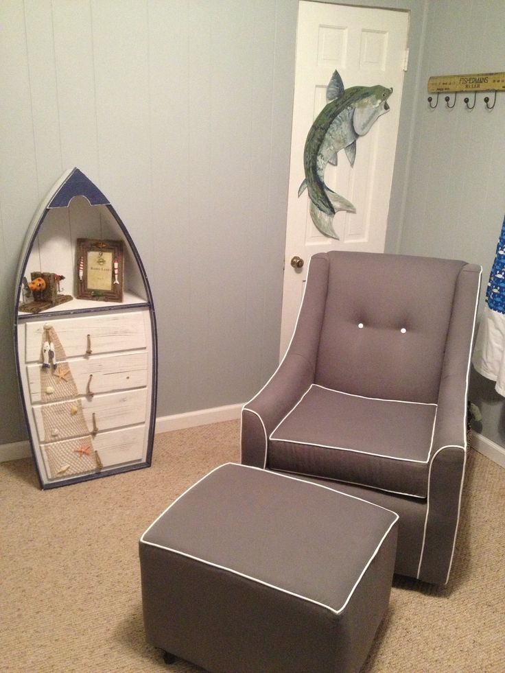 The nursery - so excited about my baby boy's fish themed nursery