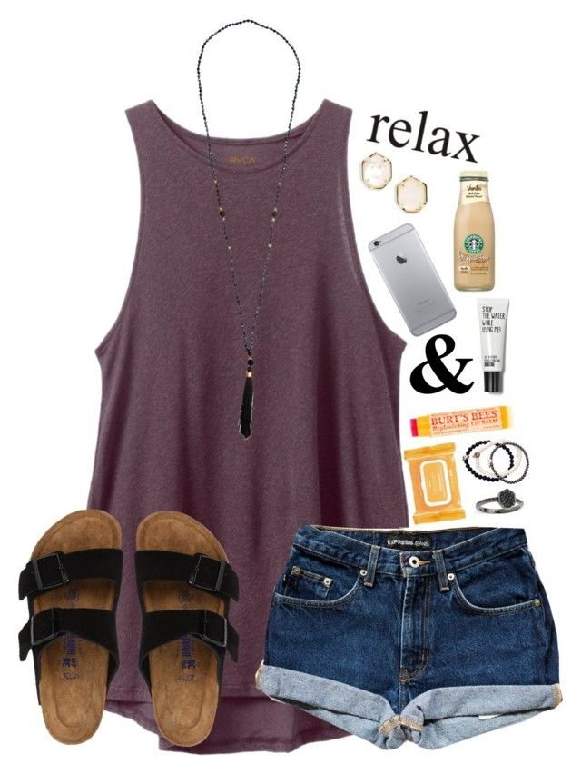 """""""*oh and I've heard a thousand stories of what they think you're like*"""" by lydia-hh ❤ liked on Polyvore featuring RVCA, Birkenstock, Ole Henriksen, Kendra Scott, Duchess of Malfi and Burt's Bees"""