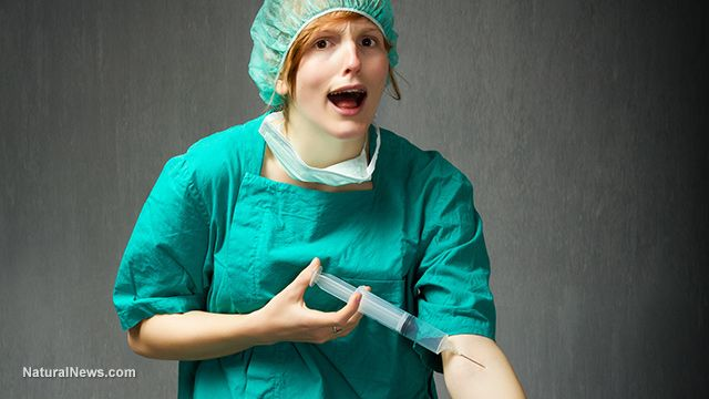 Why you should NEVER get a flu shot: Nurse licensed by the New Jersey Board of Nursing uses same dirty syringe to vaccinate 70 people in a row... WOW