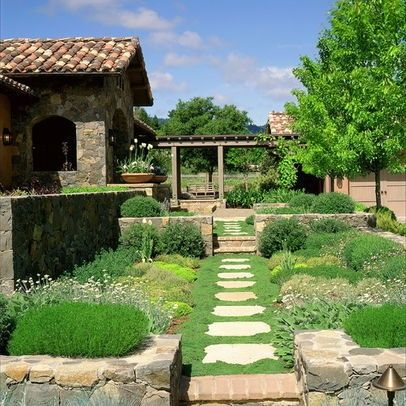 Mediterranean Landscape w Vegetables Incorporated In
