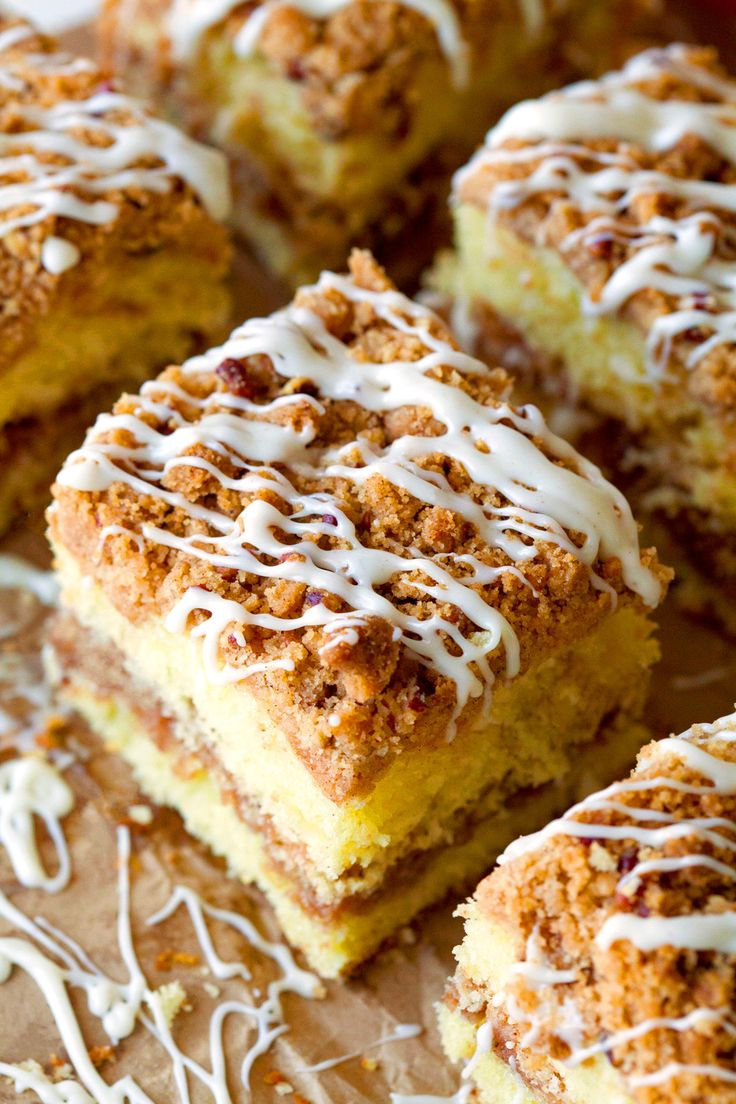 Extreme Crumb Cinnamon Roll Coffee Cake - Made this cake with Cinn Streusel topping.