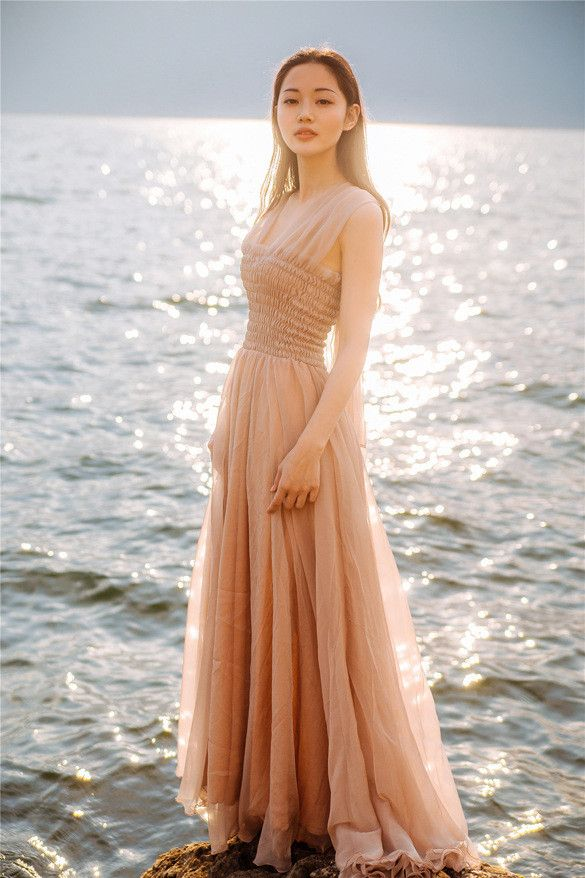Bohemian Off-shoulder Backless White Elegant Short sleeves Long Dresses