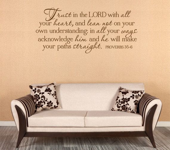 Christian wall decal trust in the lord code 169 family wall quotesvinyl