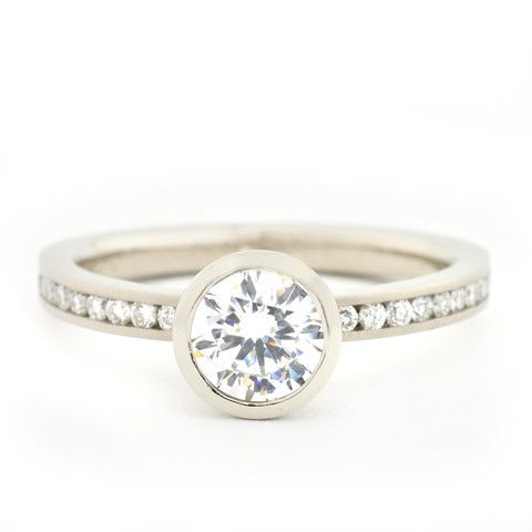 Contemporary Bezel Engagement Ring