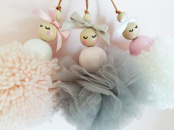 Ballerine pom-pom décor de chambre de filles par OhSewRosieHandmade