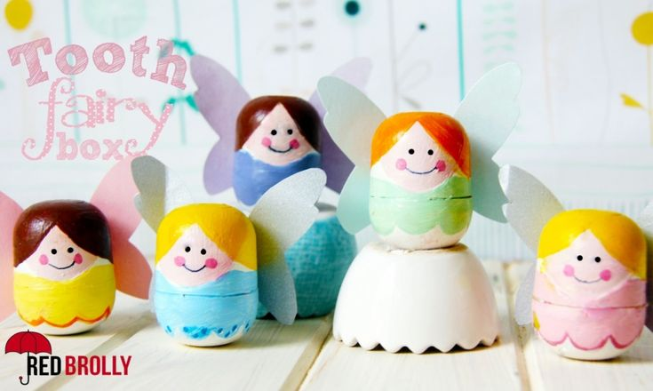 Recycle Tooth fairy box from kinder surprise egg