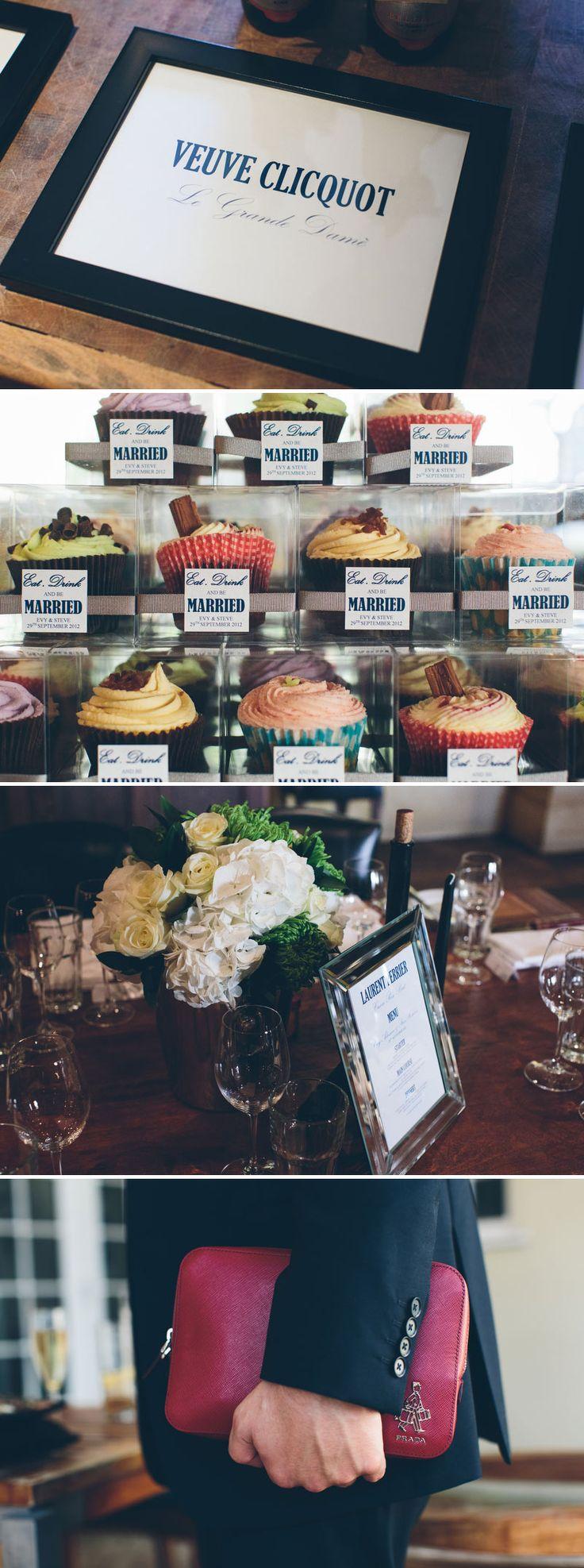 Waitrose Cupcake Tower Wedding Favour Champagne Theme