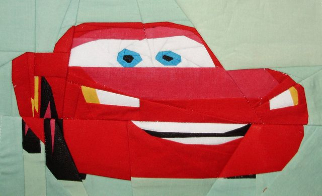 Lightning McQueen by liljabs-bunches of free paper-piecing patterns