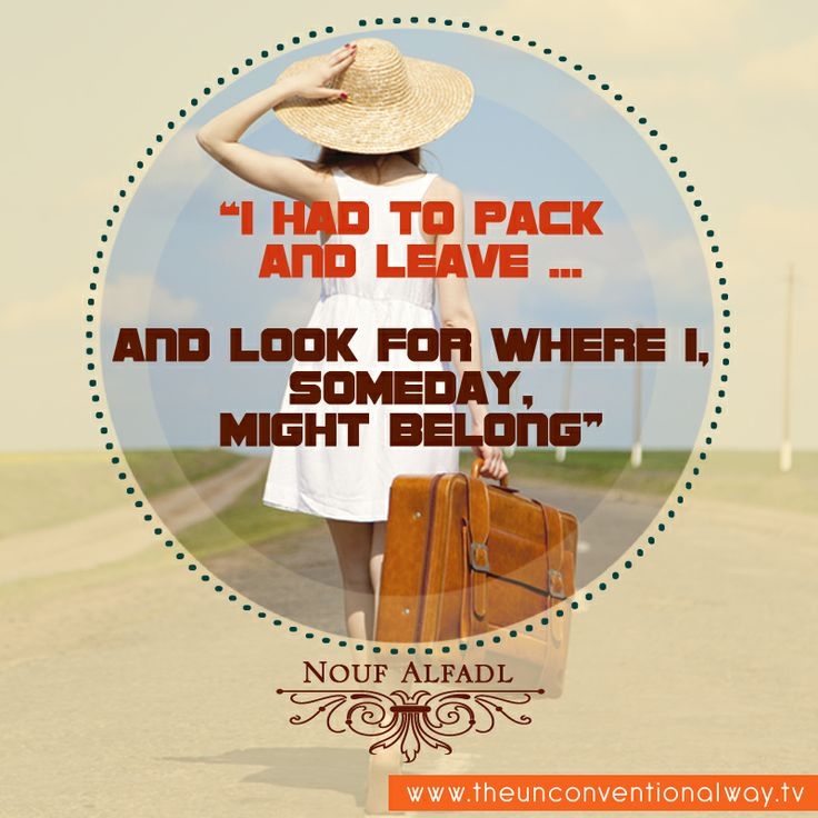 """I had to pack and leave..."""