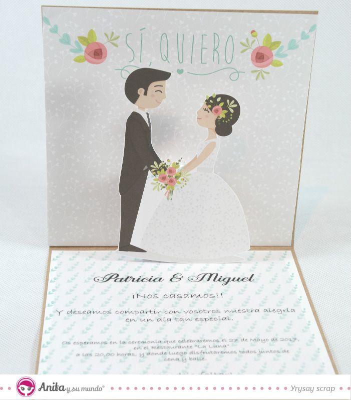 Aprende con este nuevo tutorial de scrapbooking cómo hacer invitaciones de boda caseras de manera fácil. 3 originales invitaciones de boda hechas a mano.