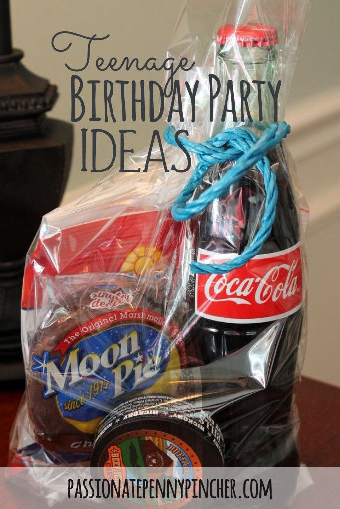 Here are a few (simple!) teenage birthday party ideas if you need them ~ coca cola, moon pies and more!
