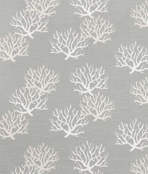 A subtle nautical touch with white coral print on grey. It's Premier Prints Isadella Coastal Gray Slub Fabric $8.00 per yard
