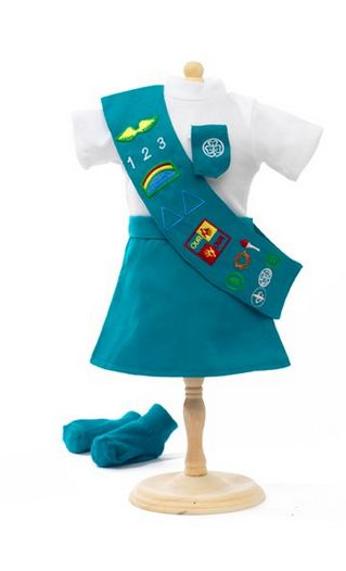 Girl Scout Doll Clothes For American Girl Dolls- Brownie & Junior Scout Discounted 61%  http://www.frugalcouponliving.com/2013/09/16/girl-scout-doll-clothes-american-girl-dolls/