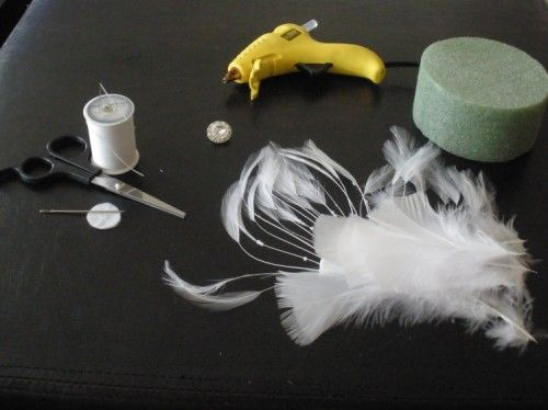 Make your own delicate feather fascinator on the cheap   Offbeat Bride