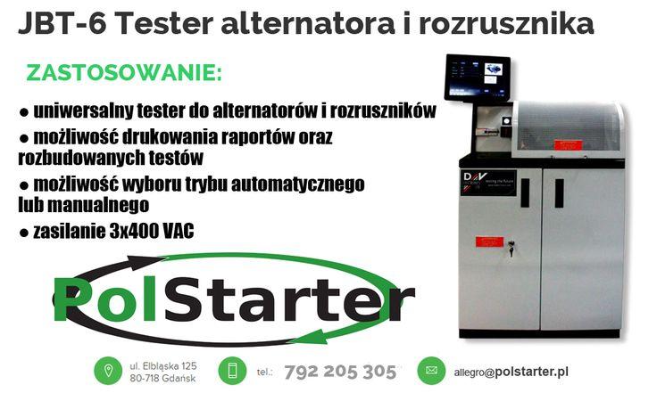 ⚫ JBT-6 Tester alternatora i rozrusznika! 💻📟📠  ⚫ Odwiedź naszą stronę i sklep internetowy, gdzie znajdziesz inne maszyny i urządzenia📠📟💻🛠🔨: ➜ www.polstarter.pl ➜ www.sklep.polstarter.pl  ⚫ Nasze aukcje w serwisie allegro:  http://allegro.pl/listing/user/listing.php?us_id=26261890&order=d  ⚫ KONTAKT: 📲 792 205 305 ✉ allegro@polstarter.pl  #rozrusznik #rozruszniki #alternator #alternatory #samochód #auto #częścisamochodowe #autoczęści #mechaniksamochodowy #regenerowany #maszyna…
