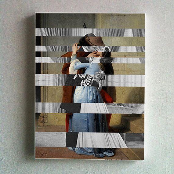 Hayez's The Kiss & Clark Gable and Vivien Leigh by KingOfMashUps