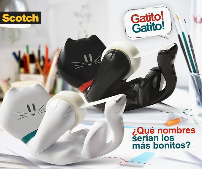 Dispensador de Cinta Magica Scotch® Gatito