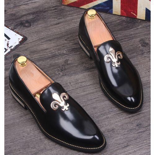 Men Black Patent Leather Gothic Fashion Wedding Prom Dress Shoes Sku