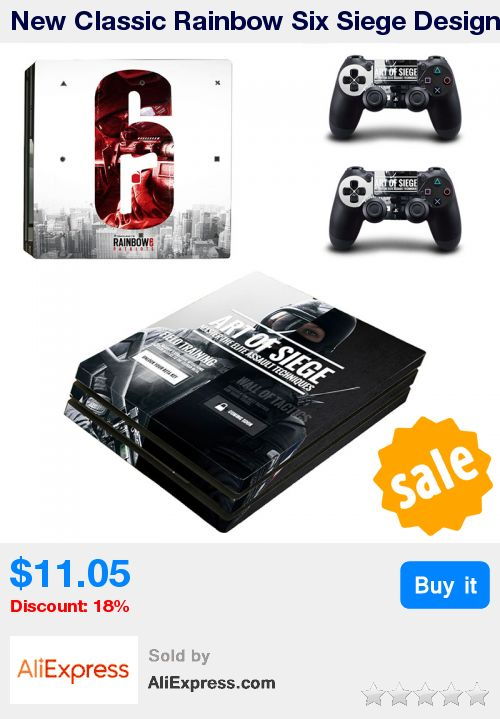 New Classic Rainbow Six Siege Design PVC Sticker Skin Cover For Playstation 4 Pro Console and Controller PS4 Pro Accessory * Pub Date: 10:20 Oct 20 2017