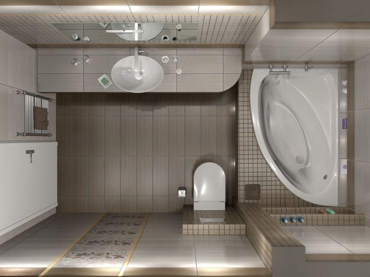 Κάτοψη του μπάνιου. Ο χώρος έχει διάσταση 1,82 x 3.44 m και το τελικό ύψος μετά την διαμόρφωση της οροφής είναι 2,40 - 2.60 m.