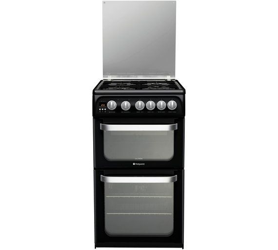 Buy Hotpoint Ultima HUG52K Double Gas Cooker - Black at Argos.co.uk, visit Argos.co.uk to shop online for Freestanding cookers, Cooking, Large kitchen appliances, Home and garden