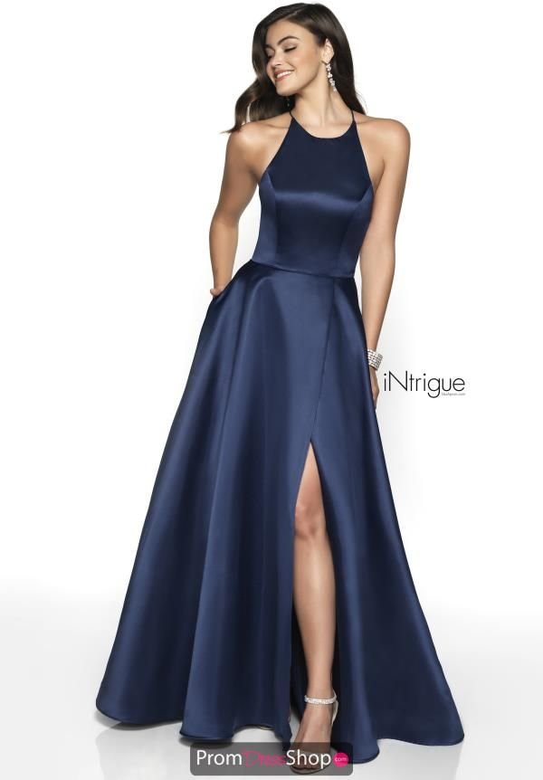 74f1f7b45df368 This elegant dress style 571 is the perfect choice for your senior prom.  This dress showcases a high halter top neckline, made of a silk material  the fitted ...