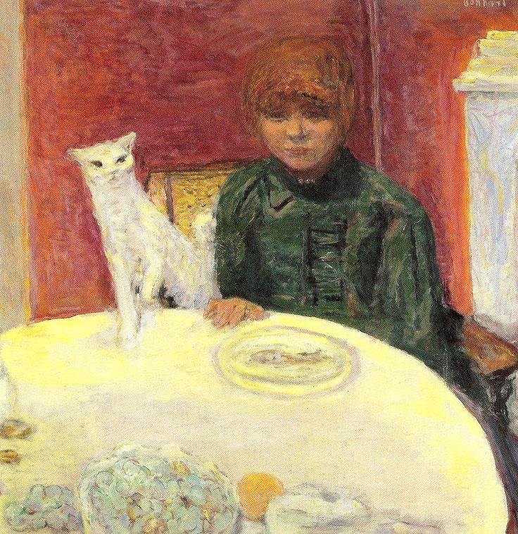 Pierre Bonnard (French, 1867-1947) - Woman with a Cat, 1912