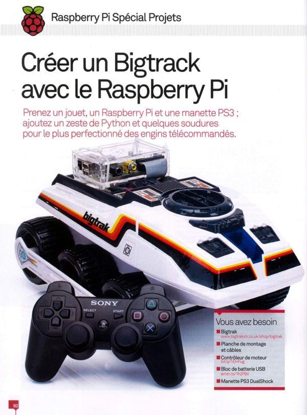 Une nouvelle revue ? Sorti fin août ce numéro 42 de Micro Portable Tests présente 60 projets pour le Raspberry Pi. Mais.. Tiens, ce robot, il me dit quelqu