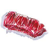 La hampe Appellation Délicat La hampe est un petit morceau à fibres longues, bien juteuses. La viande forme une bande d'un beau rouge sombre. Sa saveur est très appréciée des amateurs.