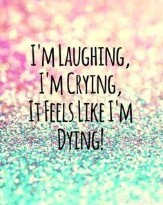 I'm laughing, I'm crying, it feels like I'm dying. ~ Melanie Martinez - Pity Party ♫
