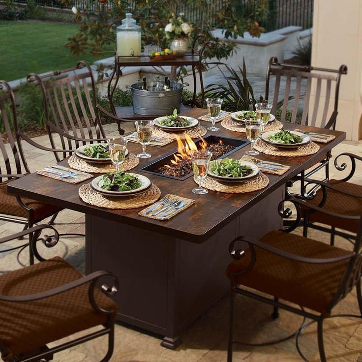 52 best images about fire pit dining table on pinterest fire pit patio fire pits and propane. Black Bedroom Furniture Sets. Home Design Ideas