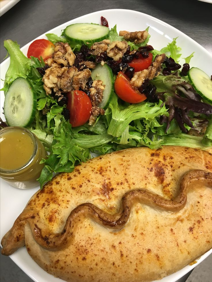 Cheese & Onion Pasty with our House Salad