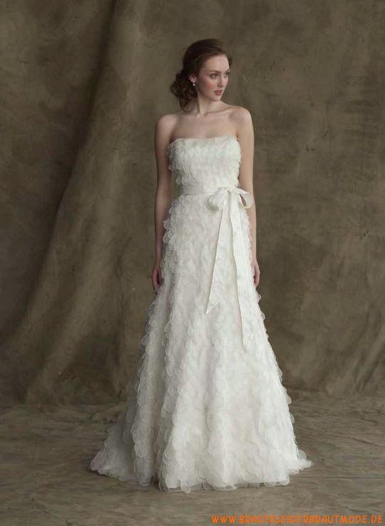 Liebste romantische Brautkleider aus Organza A-Linie Brautmode Berlin kaufen online