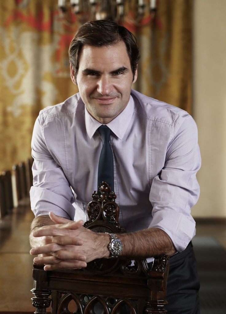 Roger Federer Photos Photos - Roger Federer of Switzerland poses for a photo at the Old Town Rathaus during the countdown to the inaugural Laver Cup on February 20, 2017 in Prague, Czech Republic. - Roger Federer Launches The Laver Cup