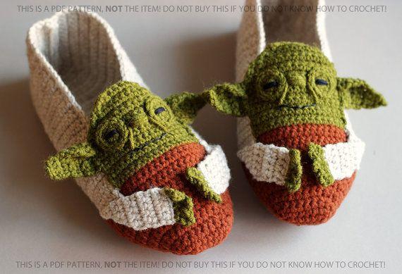 PDF PATTERN - Yoda - Star Wars Slippers