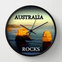 Australia Rocks Wall Clock by Chris Chalk