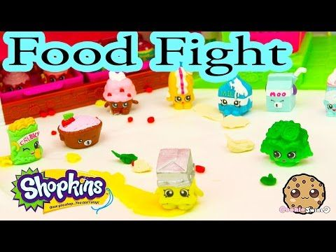 Playdoh Food Fight with Shopkins Season 1 at Small Mart Bakery - Cookie Swirl C Play Video - YouTube