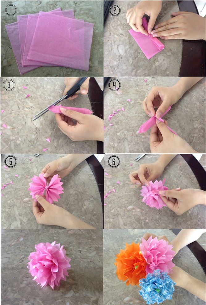 How to make a tissue flower ^.^