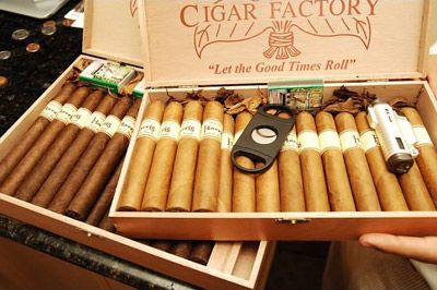New Orleans Cigar Factory--Tucked away very casually on Decatur Street on the edge of the French Quarter you can find The Cigar Factory.  It is a locally run operation where you will find upon entering a handful of guys hand rolling aromatic tobacco into smokeable masterpieces.