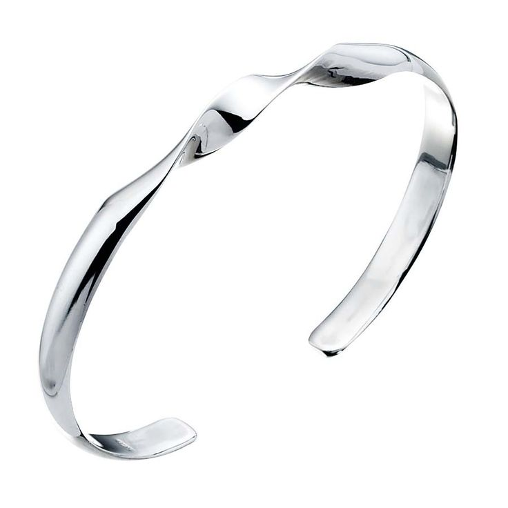 simple twist torque bangle #silver #jewellery