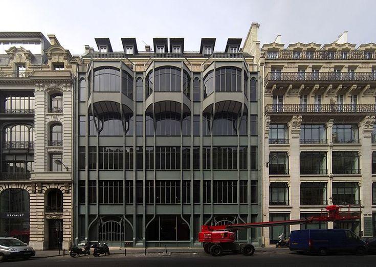 1903  Immeuble au 124, rue Réaumur (attribué à Georges Chedanne).